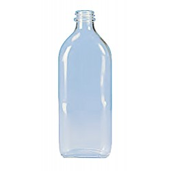 LABCO Bottle Oval 500mL - 202mm Height - 89 x 54mm Width x Depth - Cap Code 355.010.355 or 355.404.028