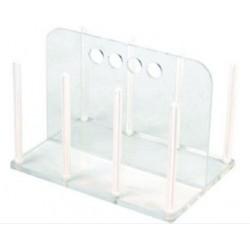 Technos Petri Dish Acrylic/Polycarbonate Rack, Holds 65x60mm diameter dishes