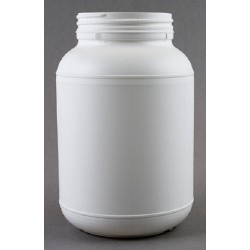 Silverlock 2L HDPE round storage container, 125mmd x 205mmH, supplied with white PP unlined screw cap, 95mmd, each