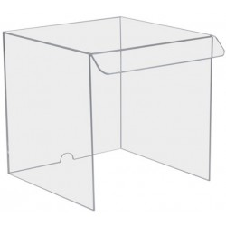 Balance Draft Shield, (33Wx34HX38D)cm, Clear Acrylic (4.5mm thick), hole at rear for power cord, each