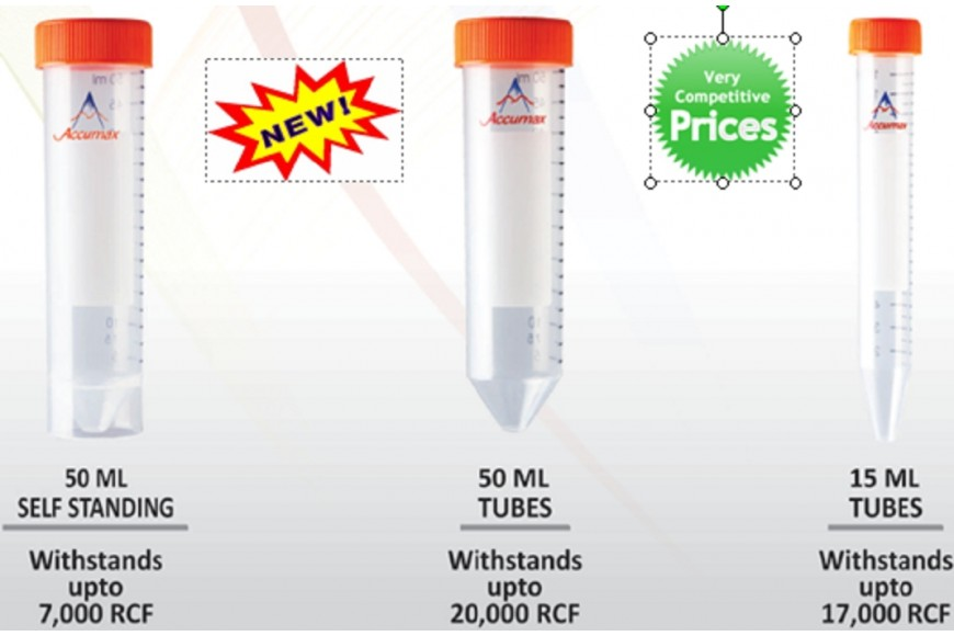 New Product - Accumax Large Disposable Centrifuge Tubes!