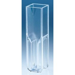 Brand-Plastic disposable Semi-Micro Cuvettes (UV/Vis Range), Vol:1.5-3.0mL-pkt/100