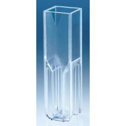 Brand-Plastic disposable Macro Cuvettes (UV/Vis Range), Vol:2.5-4.5mL-pkt/100