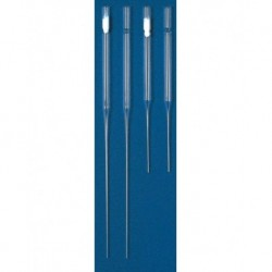 Universal 229mm Glass Pasteur Pipettes, cotton plugged  (pkt/250/ctn/1,000)