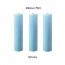 Kimberly Clark-X50 Bench Rolls, 49cm x 70 meters, 4-ply tissue , reinforced with a polyester scrim netting, blue-3 rolls/pack