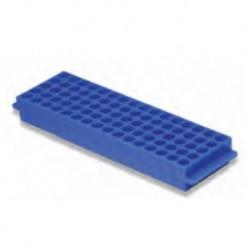 Labco Single Sided Rack: 80 well x 1.5/2.0ml tubes 5 x 16 wells, Blue-each