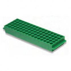 Labco Single Sided Rack: 80 well x 1.5/2.0ml tubes 5 x 16 wells, Green-each