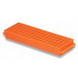 Labco Single Sided Rack: 80 well x 1.5/2.0ml tubes 5 x 16 wells, Orange-each
