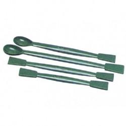 Spatulas, Polypropylene, 1 flat end, 1 spoon end, 180mm-10/pkt