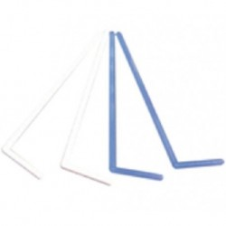 Bacterial, Media L shaped spreader bar, Gamma Sterile,  White-5/pkt