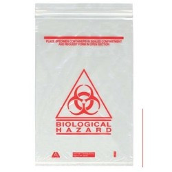 Biological Specimen Bags, 180 x 160mm, Clear 4 Ply-1000/pkt