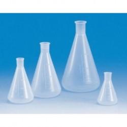 Erlenmeyer flask, 125mL, APTACA brand, narrow neck, polypropylene, graduated, autoclavable up to 121oC