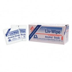 Antibacterial Swabs-Medicated-Mini (62mm x 30mm), 70% Isopropyl Alcohol, individually wrapped-100/box