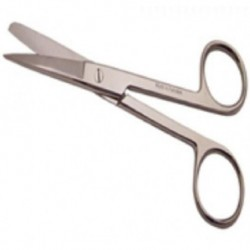 Scissors-Surgical, theatre type, stainless steel, blunt, blunt end, 12.5cm length