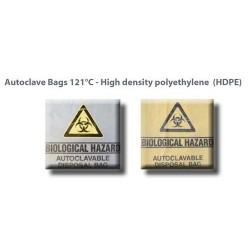 Autoclave bag, 66X37 cm with  biological hazard label, natural-1000/ctn