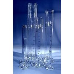 "Measuring cylinder, all borosilicate glass, tall form, 50mL, x 0.5mL GRADS ""B"""