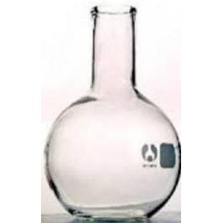 Boiling flask, borosilicate glass, flat bottom-250mL, narrow mouth,30mm d