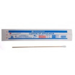 Cotton tip applicator, wood, sterile, 15 cm length, individually wrapped-pkt/1000