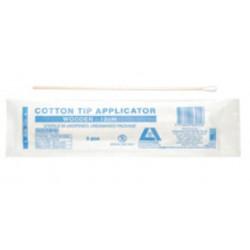 Cotton tip applicator, 15cm long with wooden stem, sterile-5/pkt/1000/case