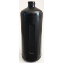 Poisons Bottle/Dangerous Goods, 1 Litre, Black with cap