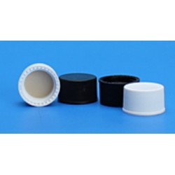 Grace/Finneran-13-425mm Solid Top, Black Polypropylene Cap, PTFE/F217 Lined-pkt/100