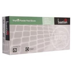 Bastion-Vinyl, Powder Free, Clear, Large - Box/100
