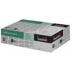 Bastion-Vinyl, Lightly Powdered, Clear, Large - Box/100