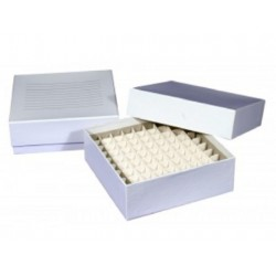 Cardboard Cyro boxes 2 Inch high with a 81 cell grid-pkt/5