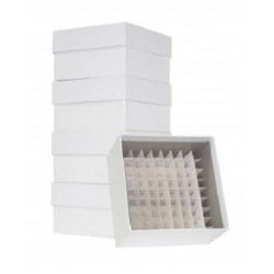Cardboard Cyro boxes 3 Inch high with a 81 cell grid-pkt/5