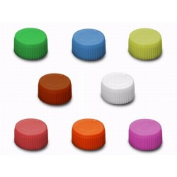 Axygen Screw Caps with 'O' Rings, Assorted colours, Pre-sterilised-pkt/500