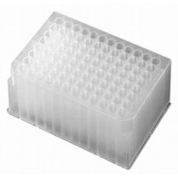 Axygen 96 well deep well plates 1.1ml volume, moulded rack with Round holes -pkt/50