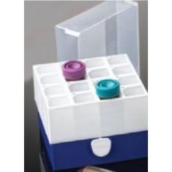 Labcon 16-PlacePolypropylene Freezer Storage Box for 50mL Centrifuge Tubes