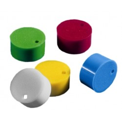 Corning® Cap inserts for cryogenic  vials, assorted colours, 100 each of white, blue, red, green and yellow-pkt/500