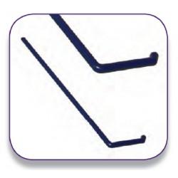 Bacterial, Media L shaped spreader bar, plastic, blue, sterile, 38mm x 156mm, disposable, 25/bag/pkt/500