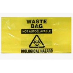 Sterihealth-Clinical waste bags, 10L yellow, 40 µm with handles-1000/ctn