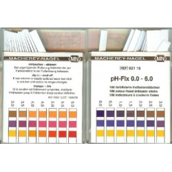 Machery-Nagel high quality pH fix test strips, Range: 0 - 6, 0.5 pH increments, pkt 100