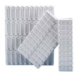 Slide tray made from PVC, each