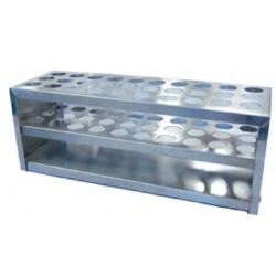 Aluminium, Test Tube Rack, Semi Micro, 16mm Diameter Tubes, 30 Holes, Each