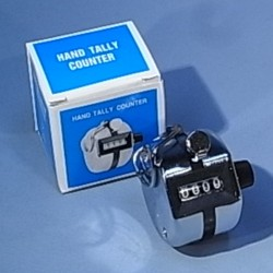 Tally counter, hand held, 4 digits, each