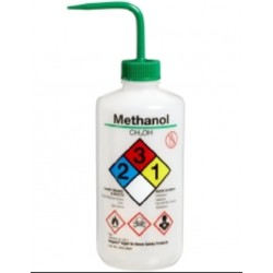 Wash Bottle-Nalgene-500mL, with curved straw. Chemical Name: Methanol, each