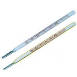 Thermometer, Glass, Mercury,  -10 to 50degC, resolution 1.0 degC, 300 mm length, each