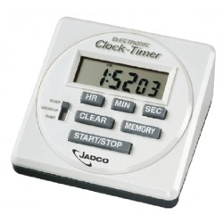 Laboratory Bench Timer and Clock, 90mm x 90mm, each