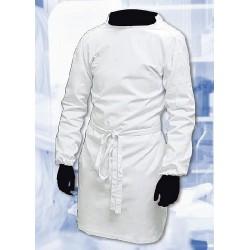 Lab Coat, Tie back Style, White Polycotton Size, XS