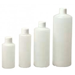HDPE, Bottle, Round, 28 mm neck with cap - 1L