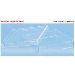 Sarstedt-Petri dishes, 100 x 100 x 20 mm, polystyrene, square w/lid, non-vented, sterile, ctn/160