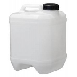 Jerrican, Natural HDPE, Square drum style, 10L, 310mmH x 220mm square, includes 58mm drum cap