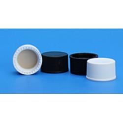 Grace/Finneran-15-425mm Solid Top, Black Polypropylene Cap, PTFE/F217 Lined-pkt/100