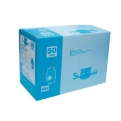 Skin Shield Sterile Surgical Gloves, Latex, Low powder, Size 6.0, 50 Pairs per Box