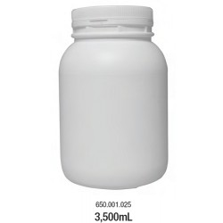 LABCO 3.5L HDPE Storage Conatiners with Screw Lid, White, Neck: 110mm, Diam: 155mm, Height: 229mm, each