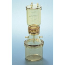 Advantec Polysulfone Vacuum 47 mm Size Filter Holder, 300mL funnel with lid, 300mL receiver base, autoclavable